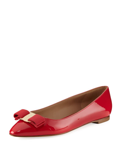 Emy Patent Ballerina Flat, Red