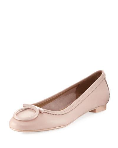 Nappa Ballerina Flat, Light Pink