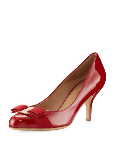 Carla 70 Patent Bow Pump, Red