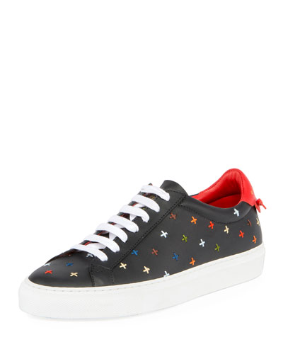 Urban Street Knots Low-Top Sneaker, Black/Red