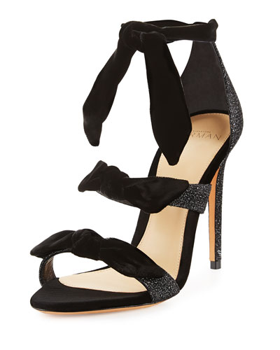 Mary Glitter 100mm Sandal, Black