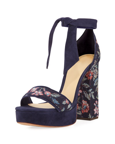 Celine Fabric 120mm Platform Sandal