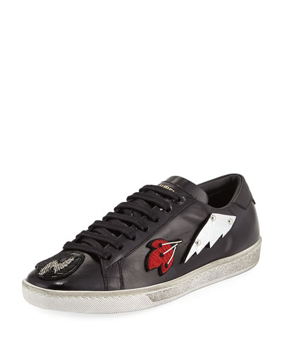 Court Classic Patchwork Sneaker, Black
