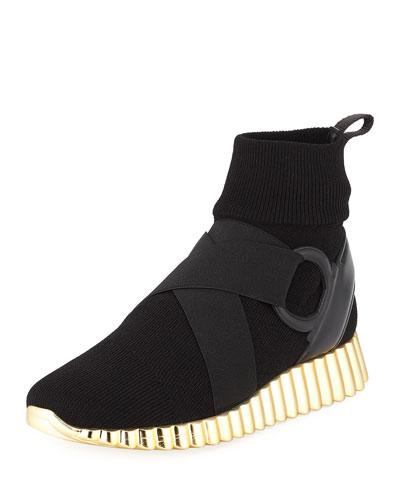 Stretch Fabric Glove Sneaker