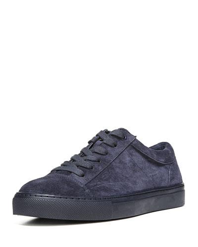 Afton Suede Low-Top Sneaker, Deep Blue