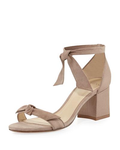 Clarita Suede 60mm Sandal, Cameo