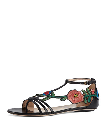 Ophelia Flat Embroidered Sandal