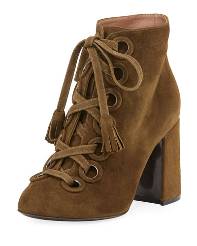 Paddle Suede Lace-Up 90mm Bootie