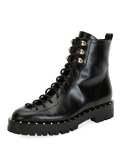 Soul Rockstud Leather Combat Bootie
