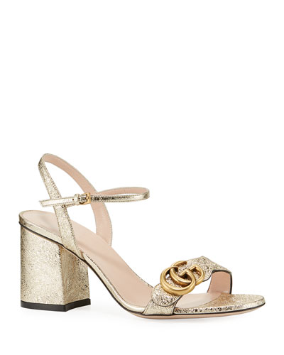 f83d78e458c3e Quick Look. Gucci · 75mm Marmont Metallic Sandal