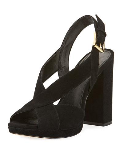 Becky Suede Platform Sandal