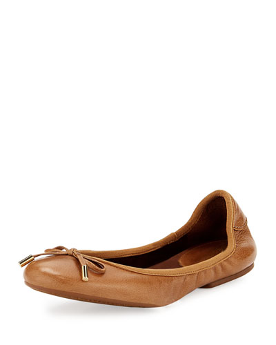 MK City Leather Ballerina Flat,