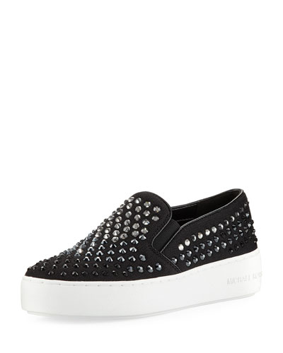 Trent Crystal Mesh Skate Sneaker, Black