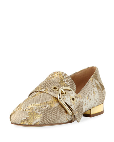 Cooper Snake-Embossed Slipper Loafer