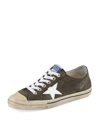 V-Star Suede Low-Top Sneaker, Olive