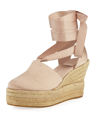 Elisa Satin Wedge Espadrille