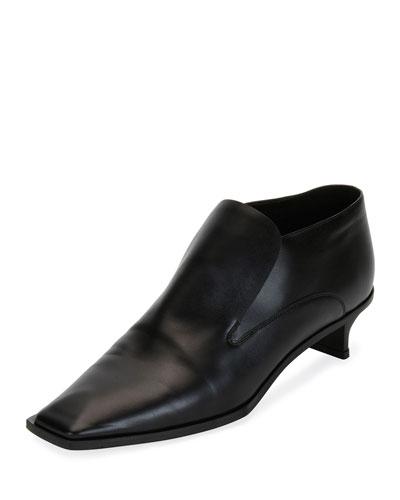 Flat Heeled Slip-On Loafer, Black