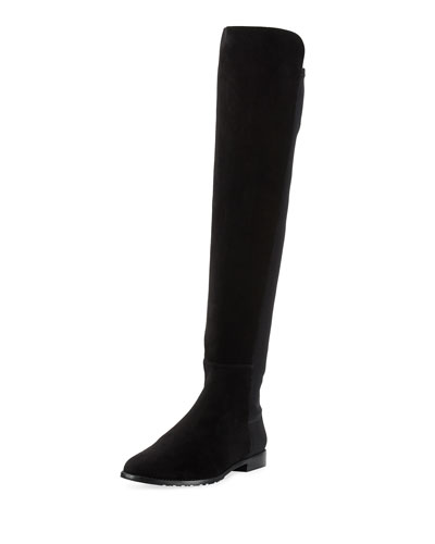 Corley Over-The-Knee Suede Boot, Black