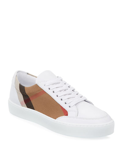 Quick Look. Burberry · Salmond Check   Leather Sneakers ec8627484