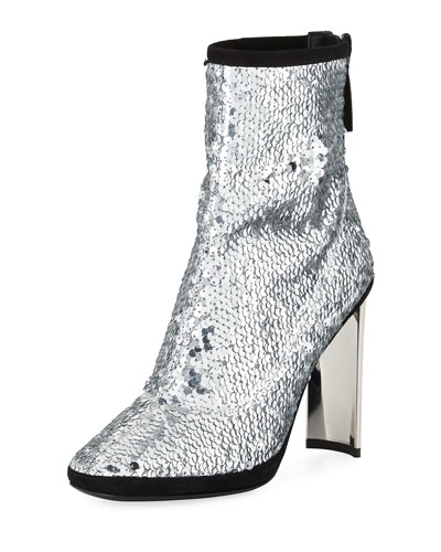 Stretch Sequin 105mm Bootie