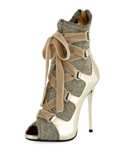 Sparkle Metallic 110mm Bootie