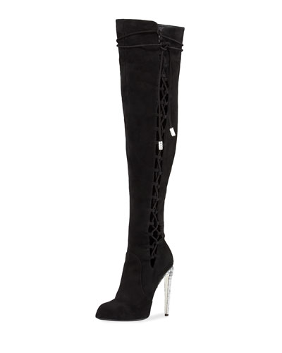 Frida Suede 120mm Over-The-Knee Boot