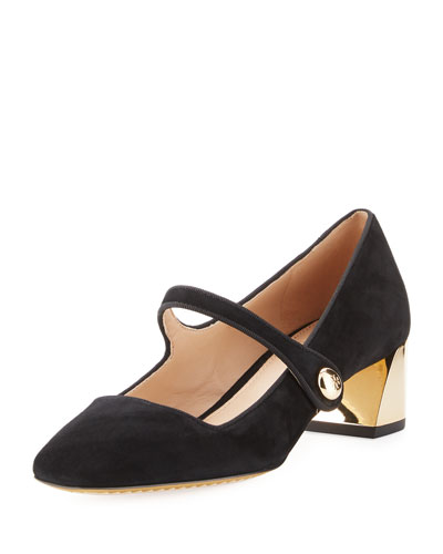 Marisa Suede 40mm Mary Jane Pump
