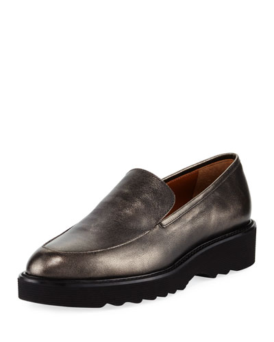 Kelsey Metallic Platform Loafer