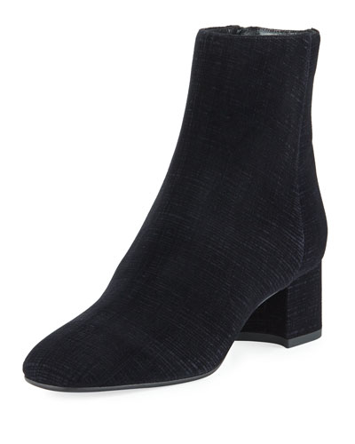 Jocelyn Velvet Devore Ankle Boot