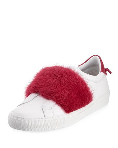 Urban Knot Fur-Trim Sneaker