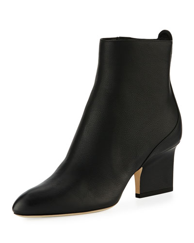Autumn Grainy Leather 65mm Bootie