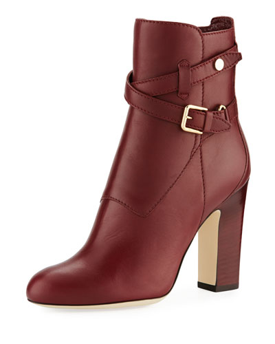 Mitchell Leather Buckle Bootie