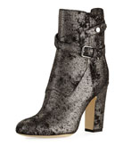 Mitchell Metallic Dotted Suede Bootie