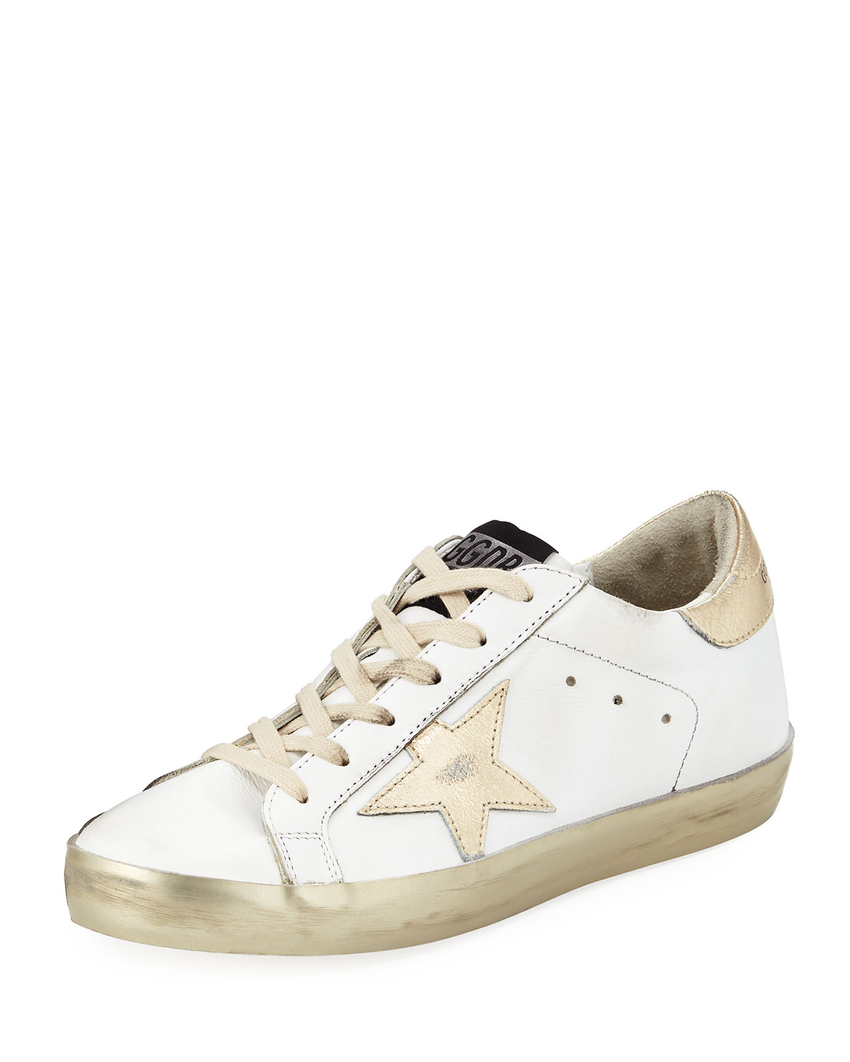 Distressed Leather Star Sneaker