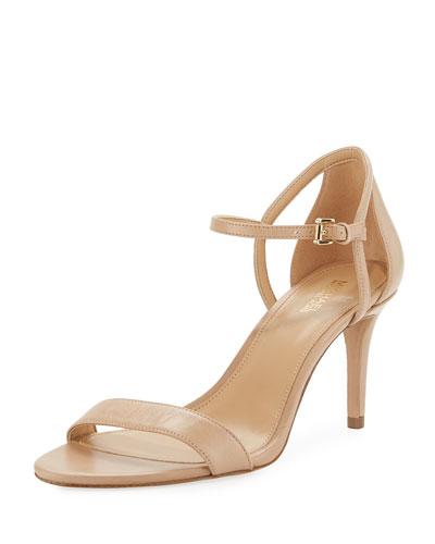 Simone Mid-Heel Minimalist Sandal