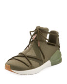 Fierce Rope Dotted Stretch Sneaker, Olive