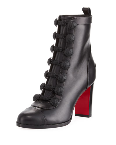 Who Dances Leather Red Sole Bootie