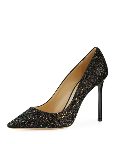 Romy Rainbow Glitter Fabric Pump