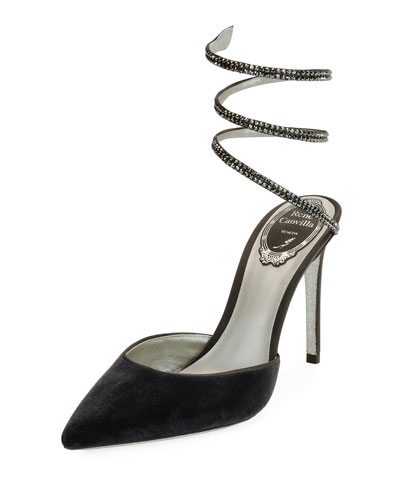 RENé CAOVILLA Open Back Satin & Velvet Pumps RCG8Asg