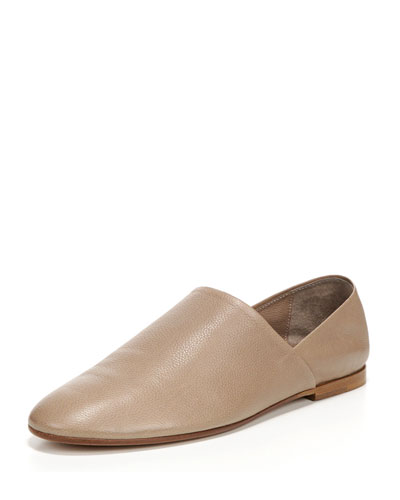 Maude Leather Slip-On Loafer, Gull