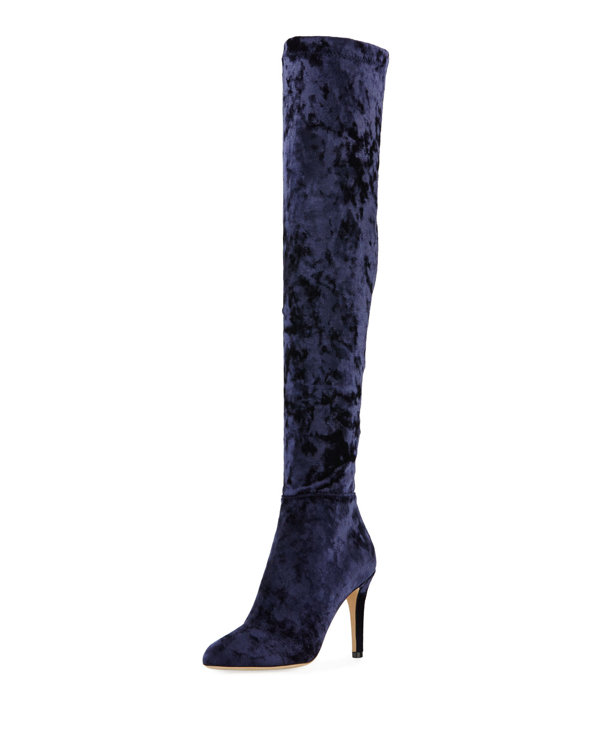Toni Over-The-Knee Stretch-Velvet Boot