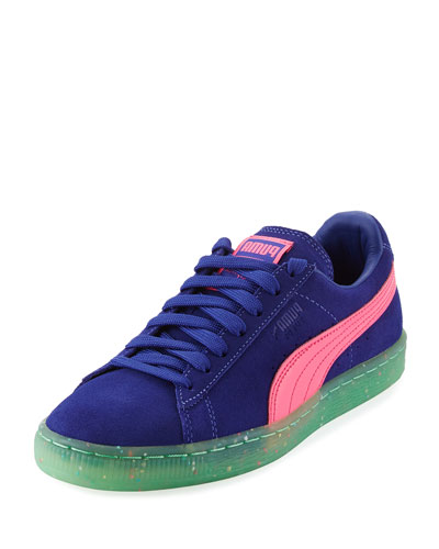 x Sophia Webster Basket Suede Low-Top Sneaker