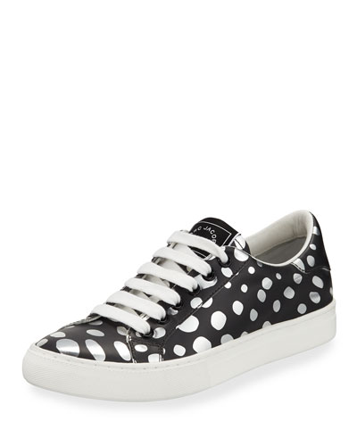Empire Dotted Low-Top Sneaker, Dark Silver/Multi