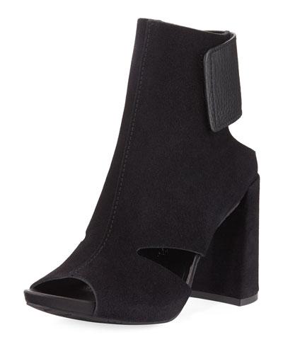 Yeca Cutout Chunky-Heel Sandal