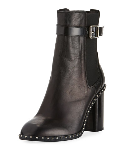 90MM ROMI STUDDED ANKLE BOOT