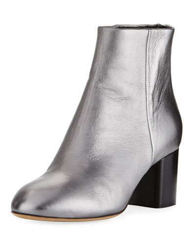 Drea Metallic Napa Leather Ankle Boot