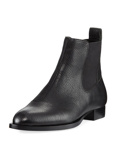 Mason Pebbled Leather Chelsea Ankle Boot