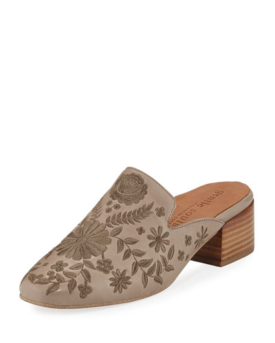 Eida 2 Embroidered Leather Mule
