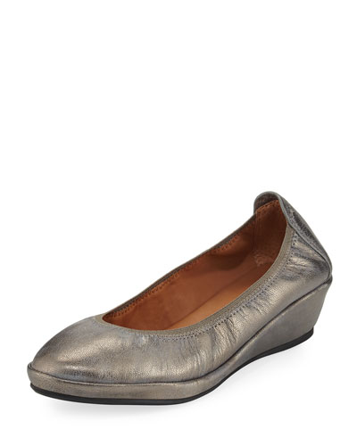 Natalie Stretch-Demi Wedge Ballerina Shoe