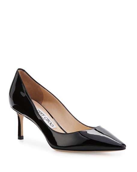 Jimmy Choo Romy 60mm Patent Pointed-Toe Pumps, Black